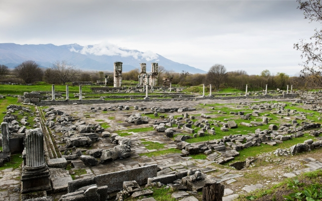 Site of Philippi in northern Greece