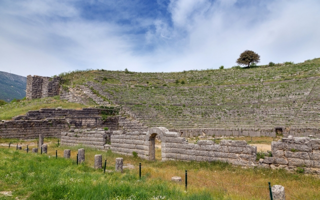 Ancient theatre of Dodoni, Epirus, Greece
