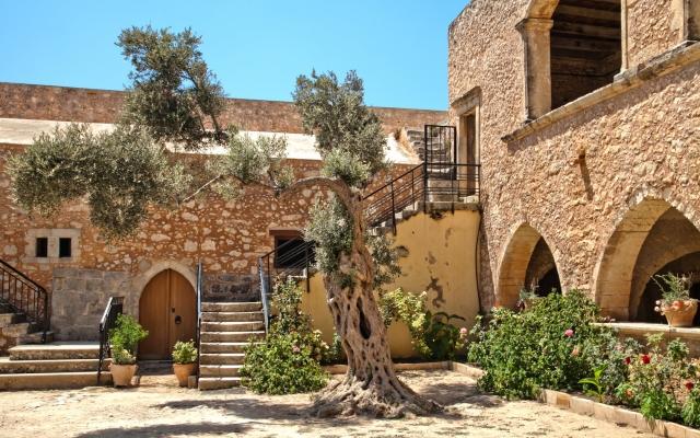 Arkadi Monastery (Moni Arkadiou). Crete. Greece