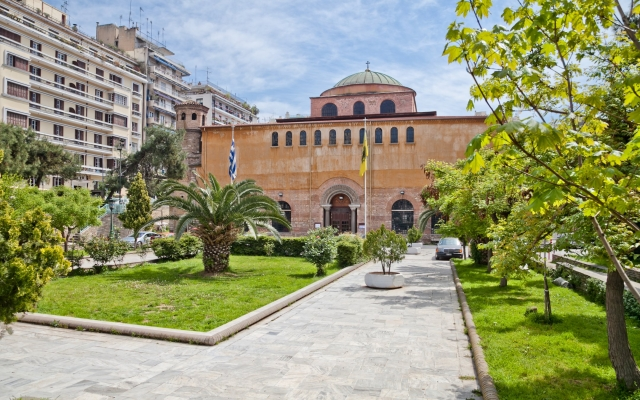 Greece. Thessaloniki. The Church Of Saint Sophia