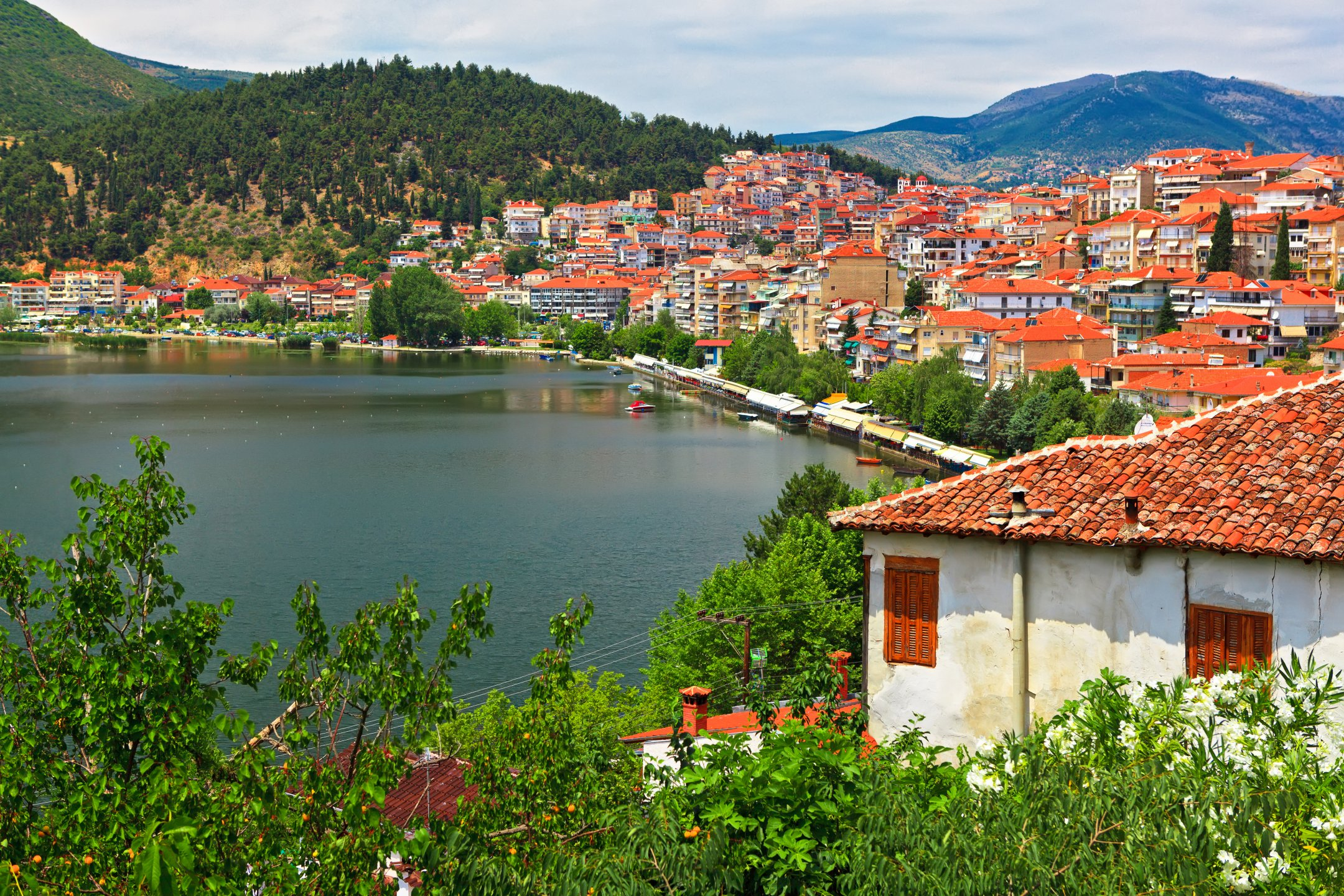 View of the city by the lake, Kastoria