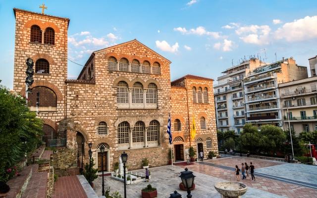 Byzantine church of Agios Dimitrios in Thessaloniki